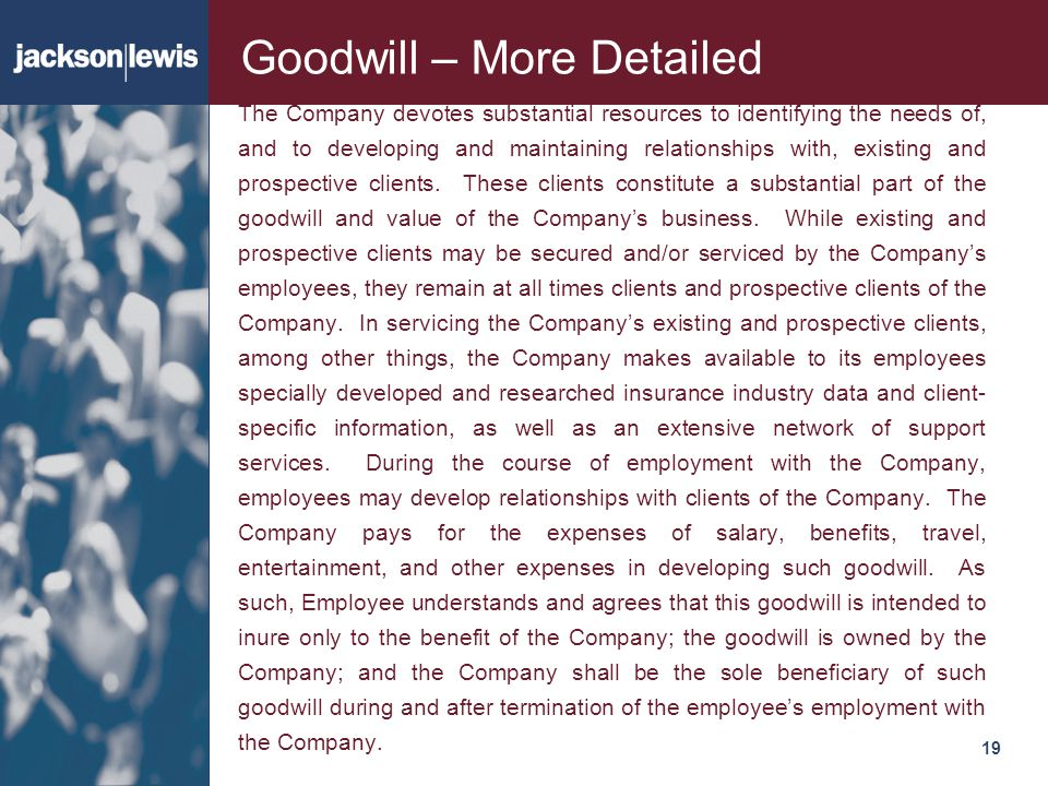 Goodwill – More Detailed