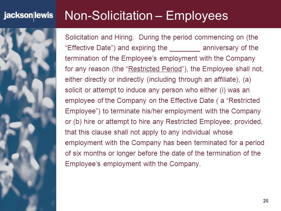 Non-Solicitation – Employees