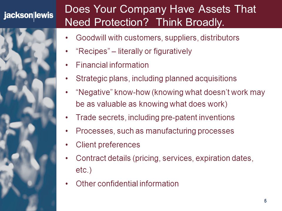 Does Your Company Have Assets That Need Protection Think Broadly.