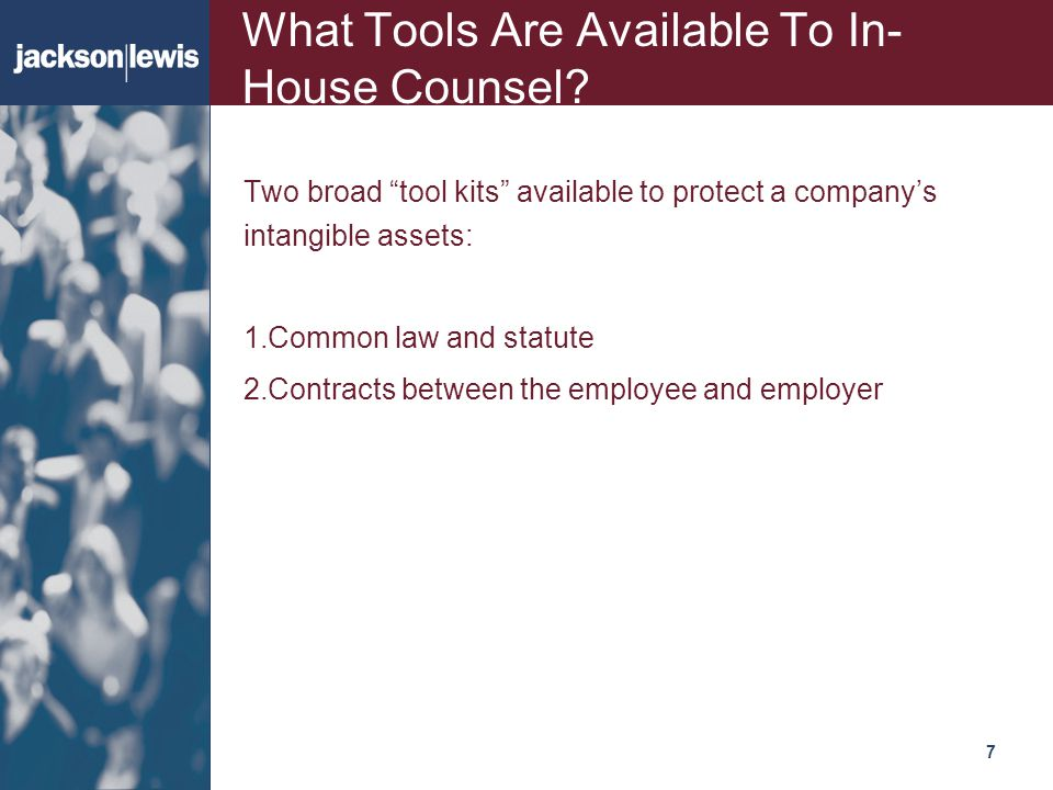 What Tools Are Available To In-House Counsel
