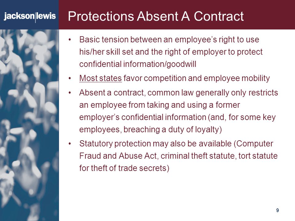 Protections Absent A Contract