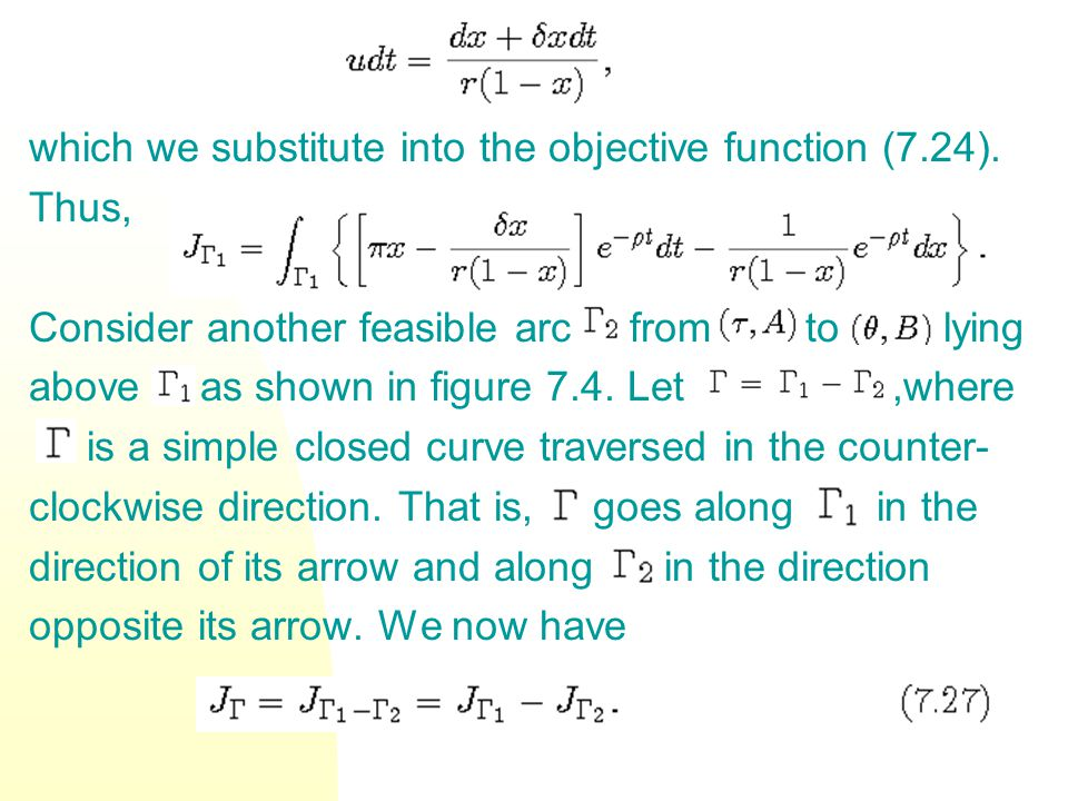 which we substitute into the objective function (7.24).