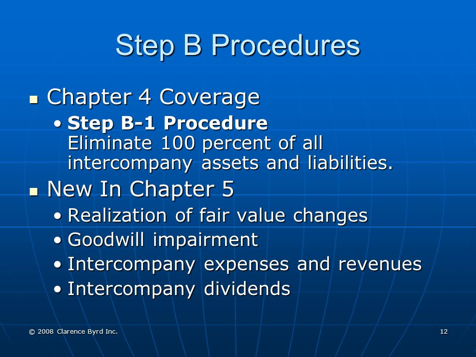 Step B Procedures Chapter 4 Coverage New In Chapter 5