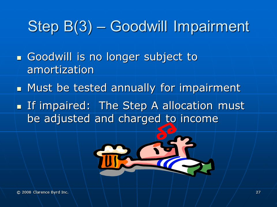 Step B(3) – Goodwill Impairment