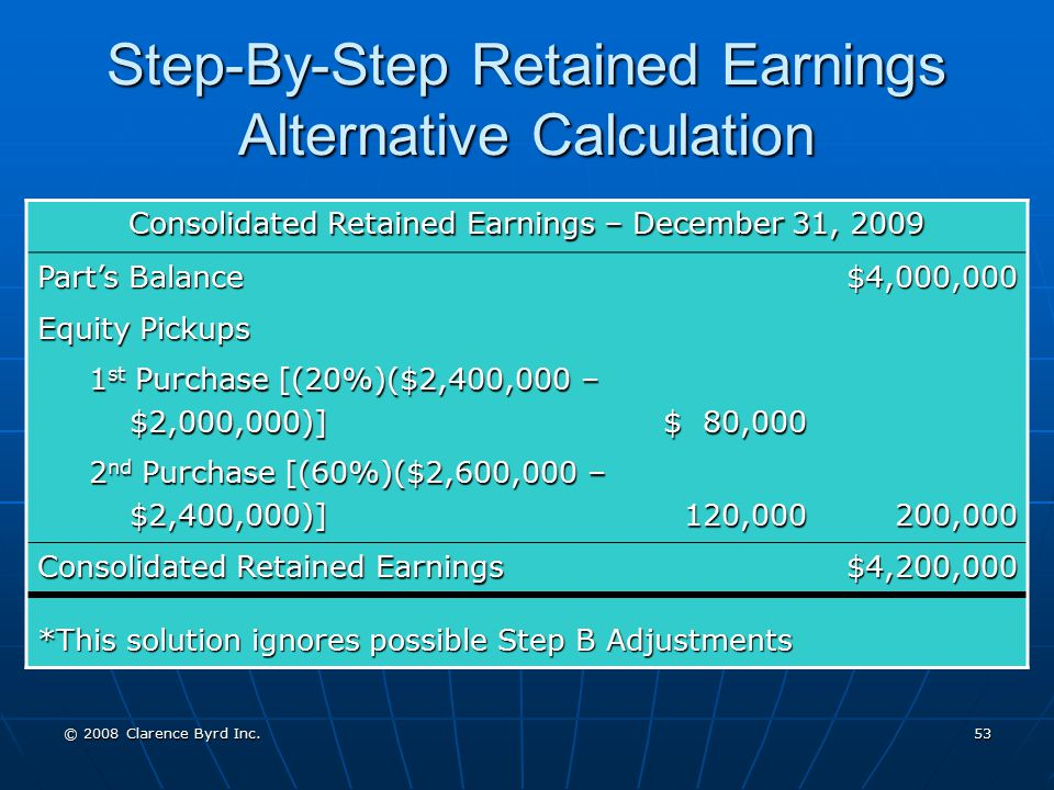 Step-By-Step Retained Earnings Alternative Calculation