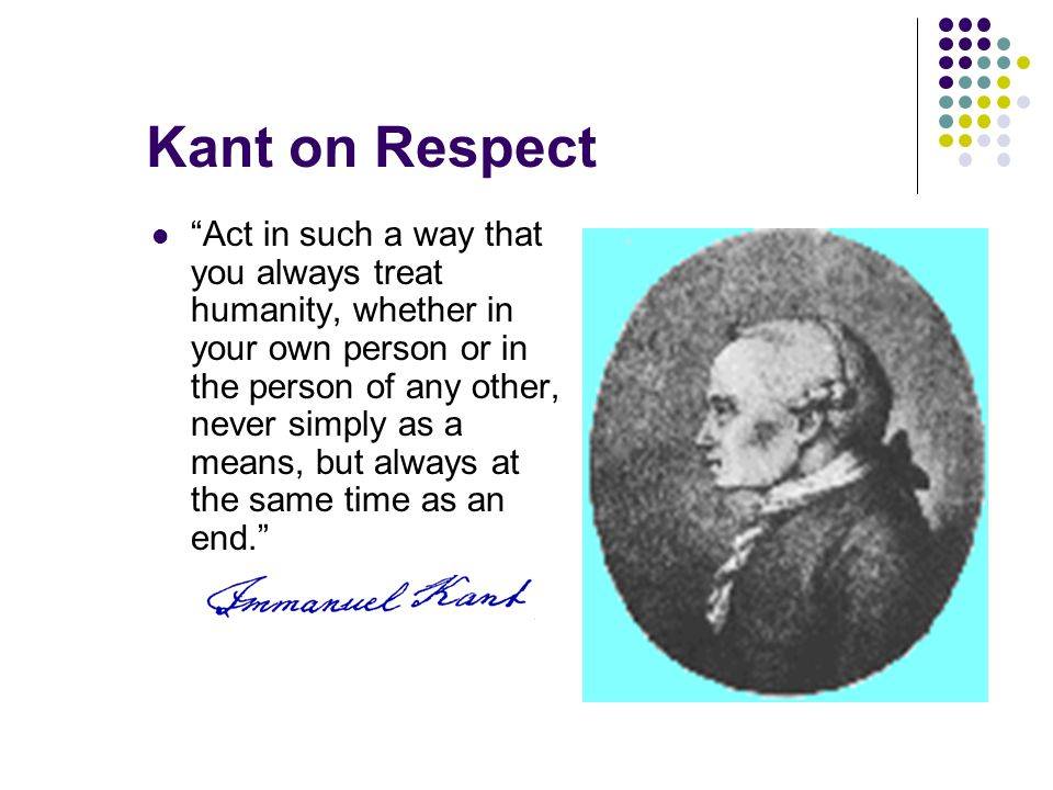 Kant on Respect