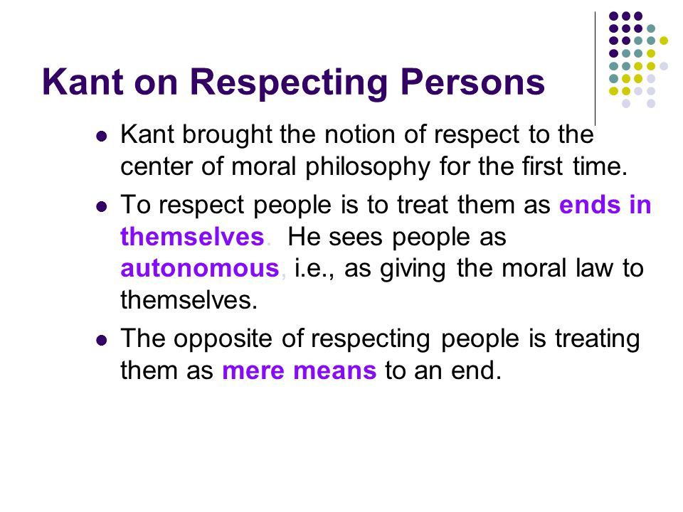 Kant on Respecting Persons