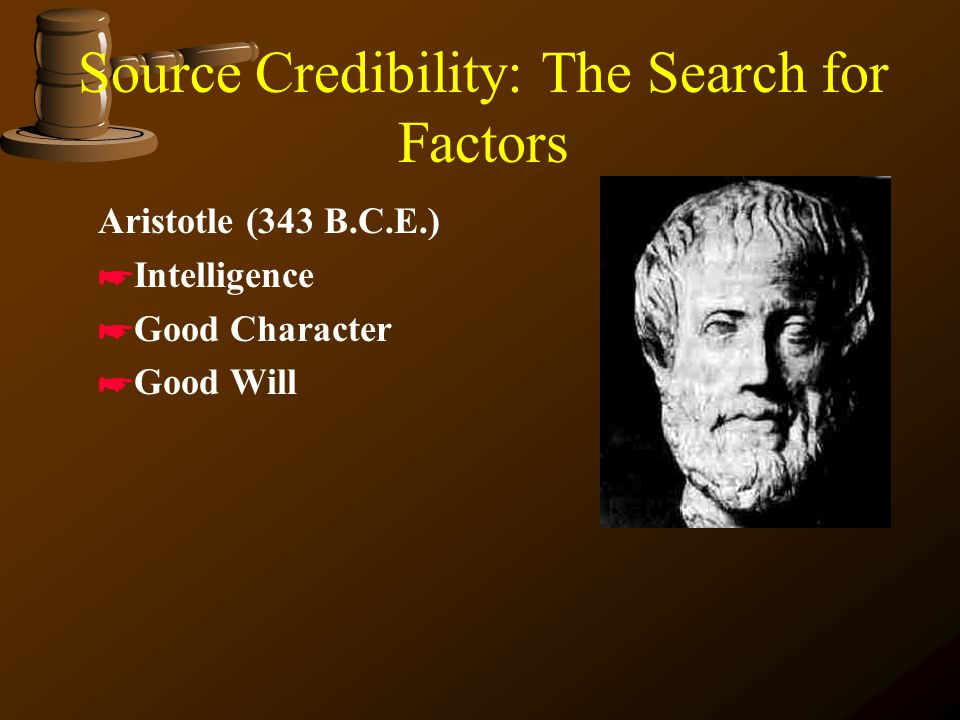 Source Credibility: The Search for Factors