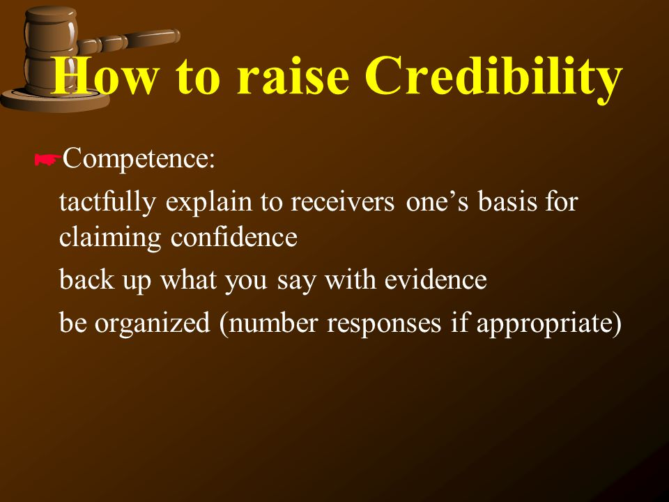How to raise Credibility