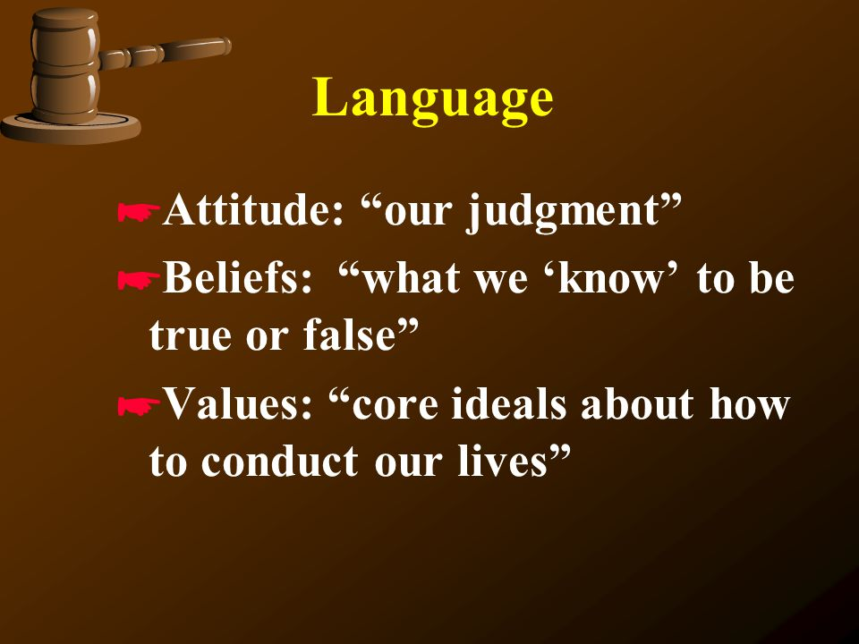 Language Attitude: our judgment