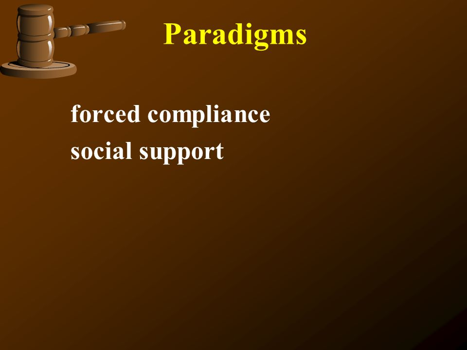 Paradigms forced compliance social support