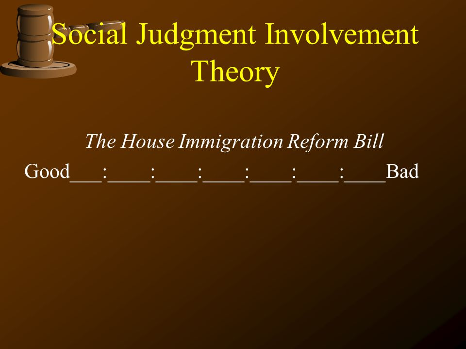 Social Judgment Involvement Theory
