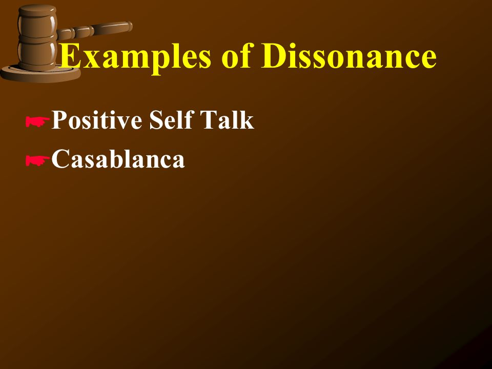 Examples of Dissonance