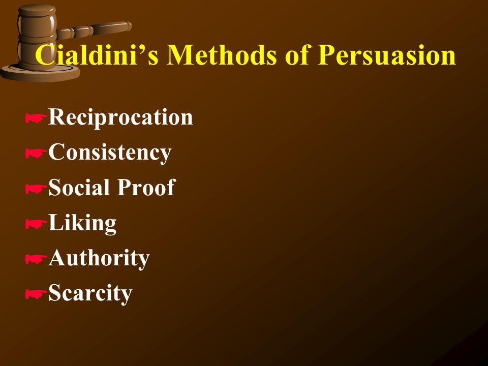 Cialdini's Methods of Persuasion