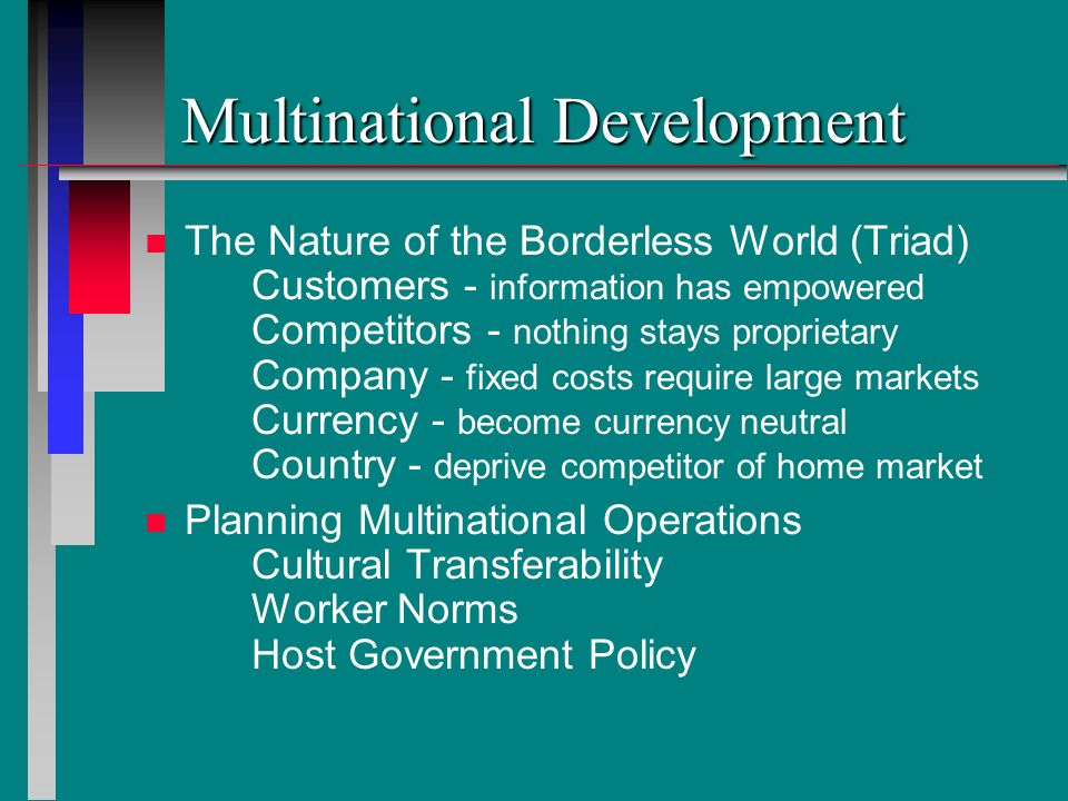 Multinational Development