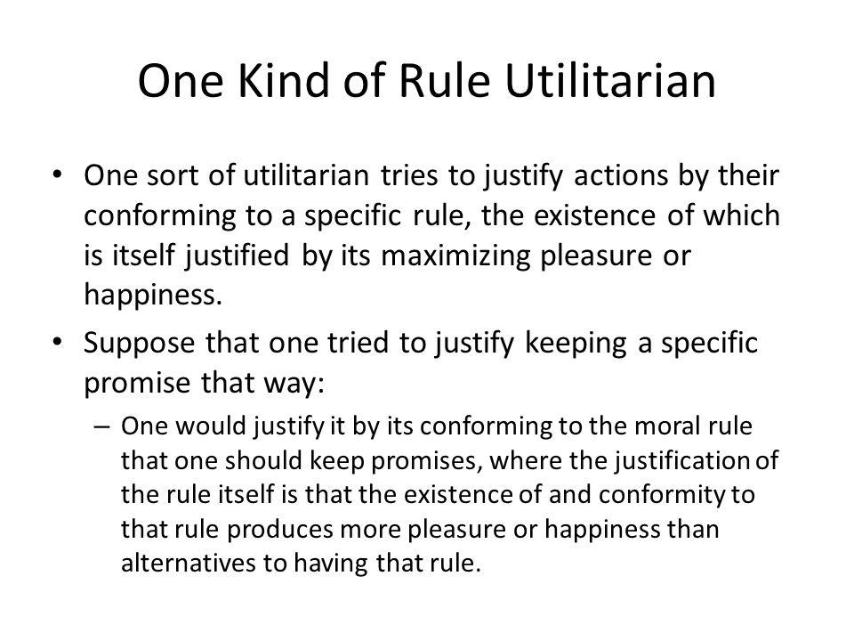 One Kind of Rule Utilitarian