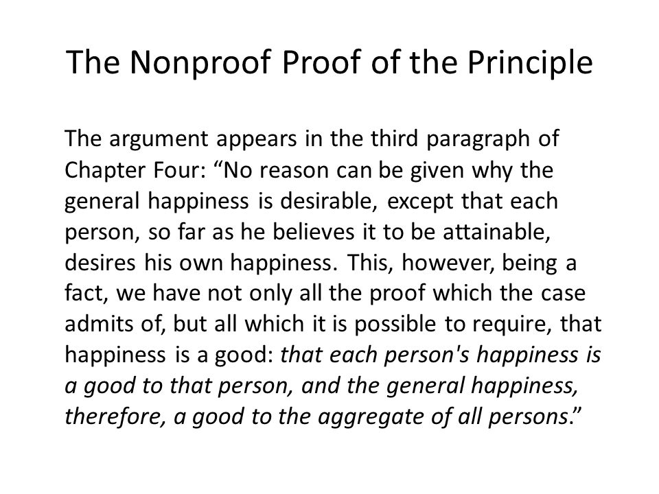 The Nonproof Proof of the Principle