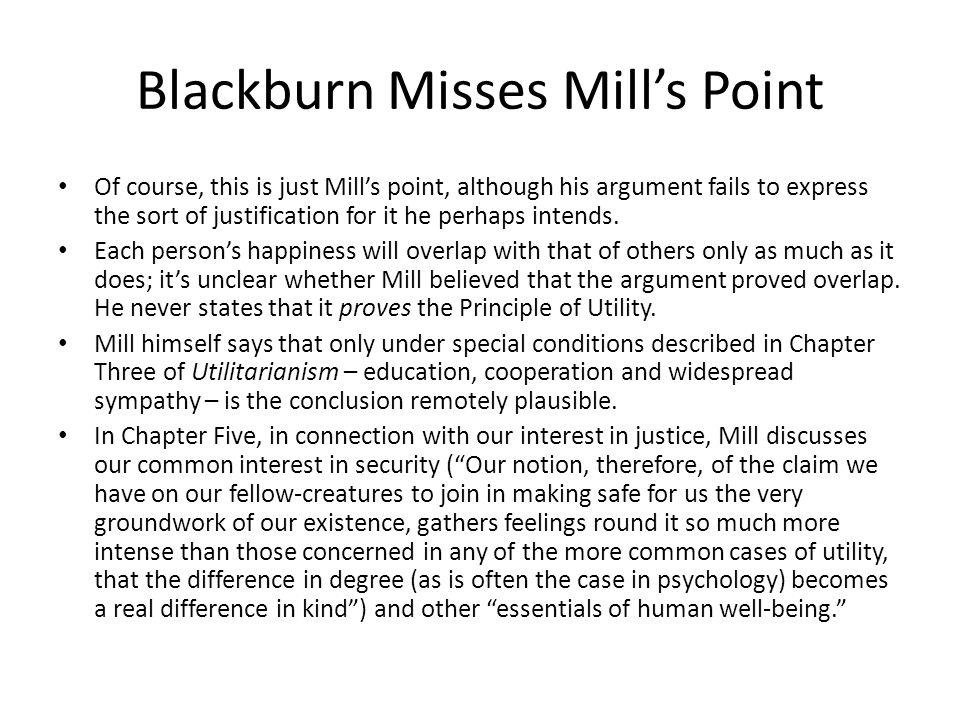 Blackburn Misses Mill's Point