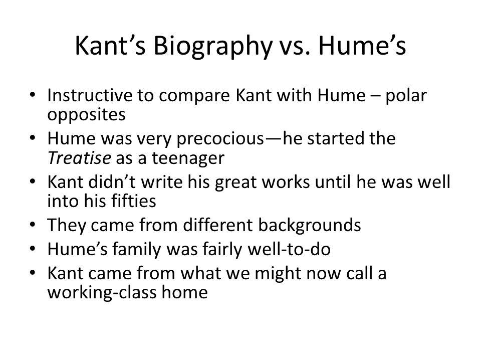 Kant's Biography vs. Hume's