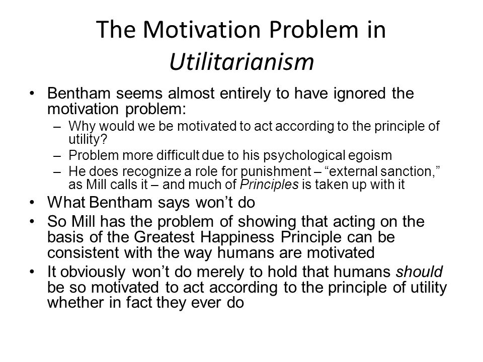 The Motivation Problem in Utilitarianism