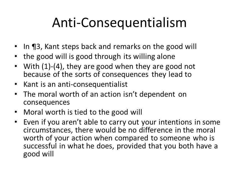 Anti-Consequentialism