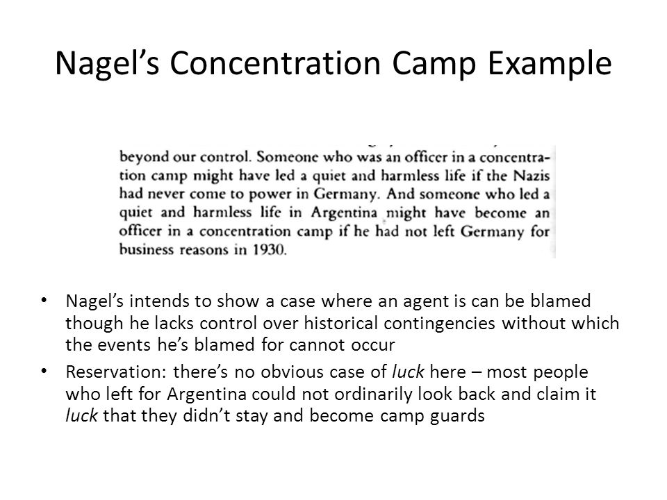 Nagel's Concentration Camp Example