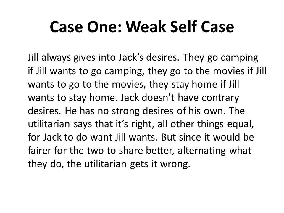 Case One: Weak Self Case