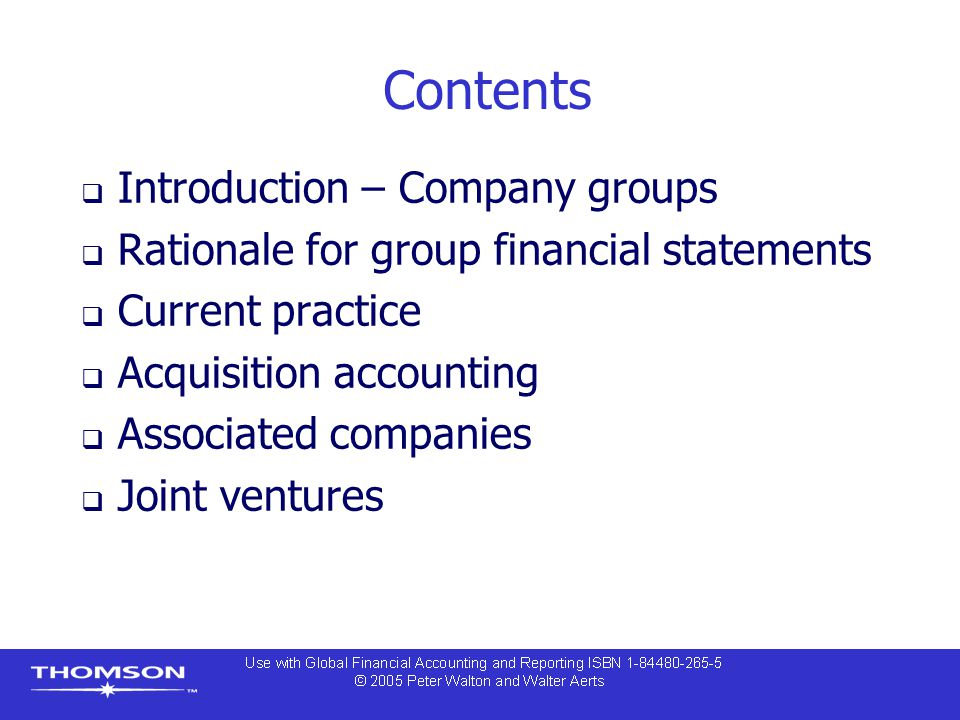 Contents Introduction – Company groups