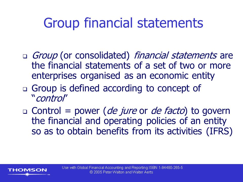 Group financial statements
