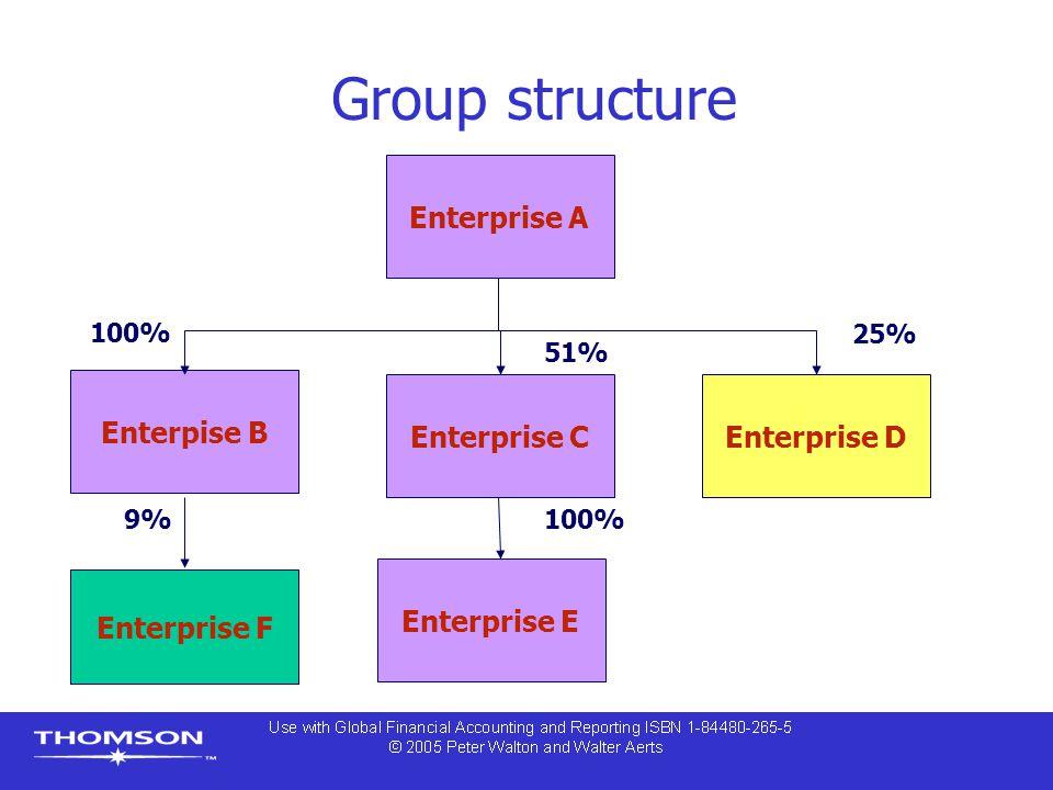 Group structure Enterprise A Enterpise B Enterprise C Enterprise D