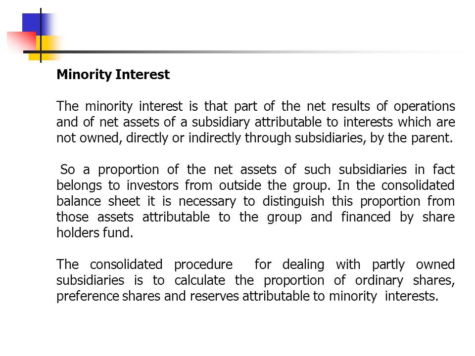 Minority Interest