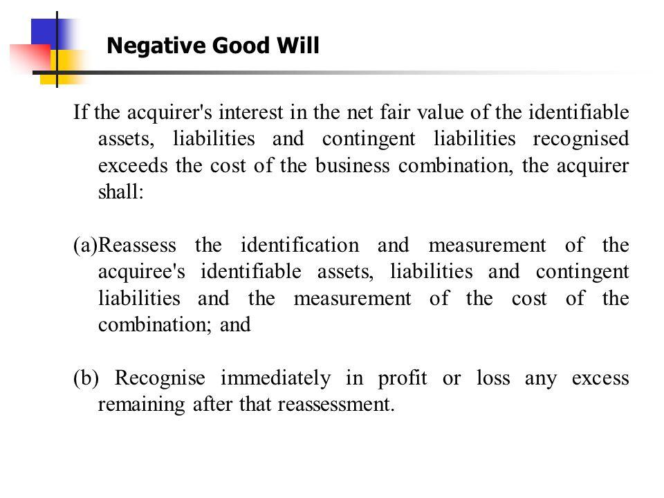 Negative Good Will