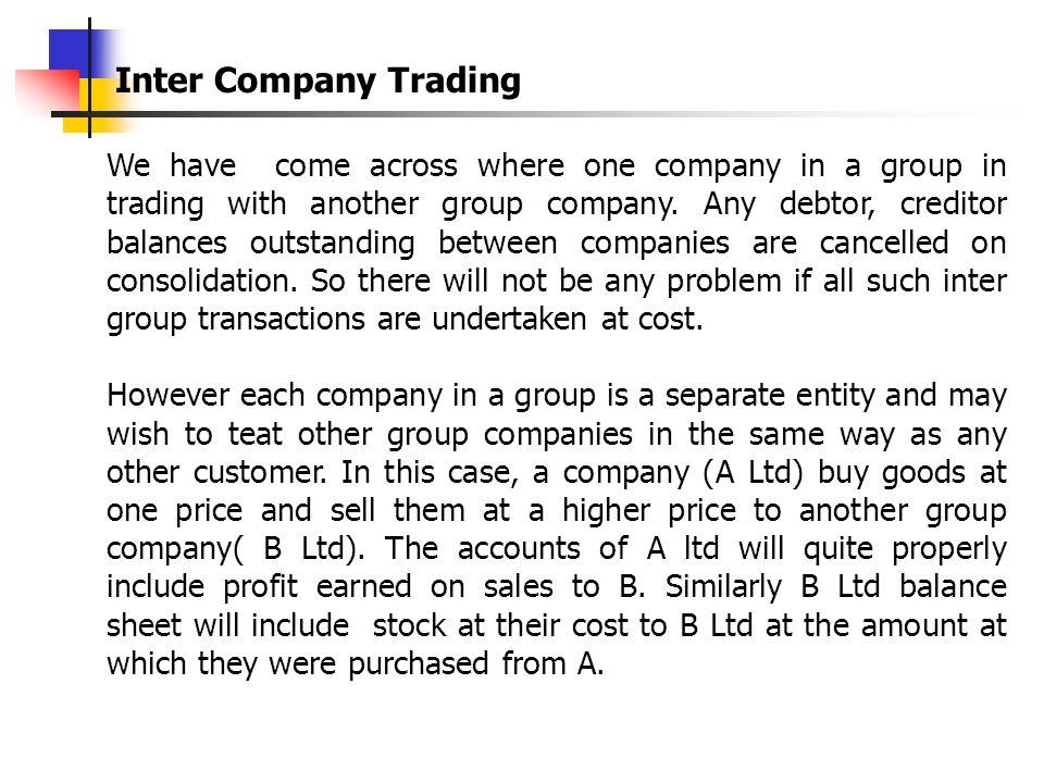 Inter Company Trading