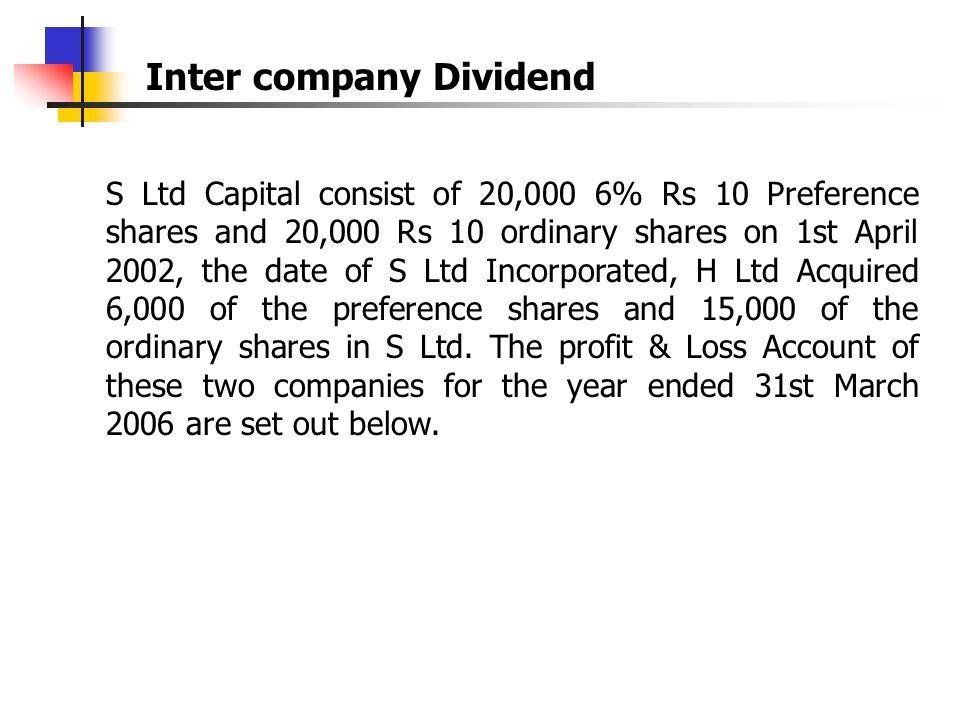 Inter company Dividend