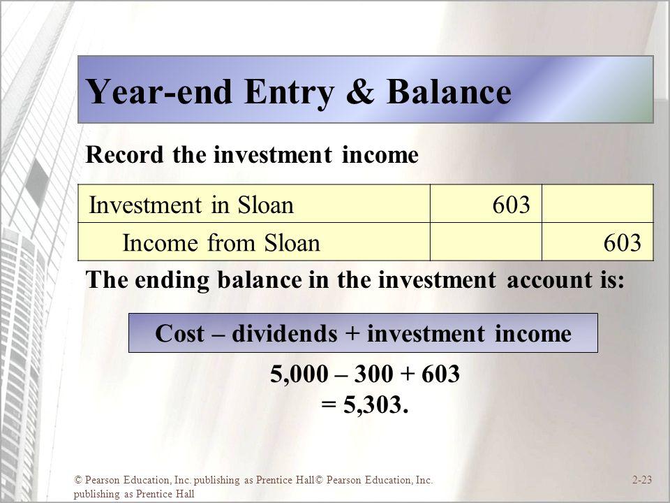 Year-end Entry & Balance
