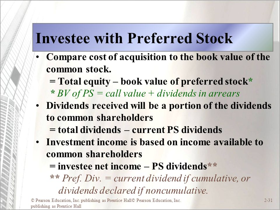 Investee with Preferred Stock