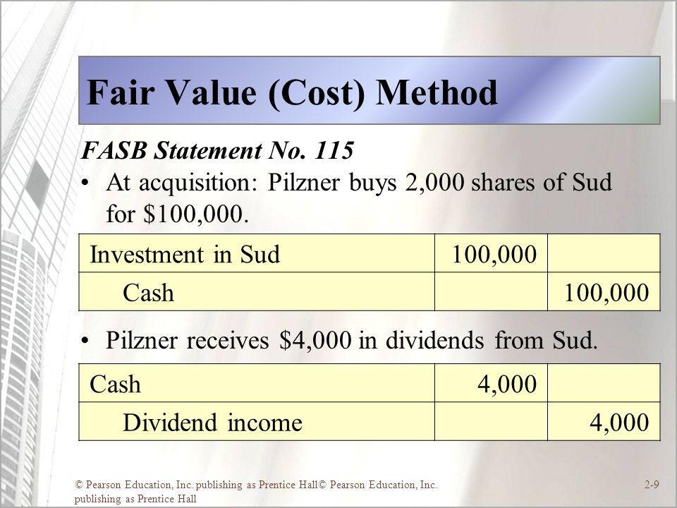 Fair Value (Cost) Method