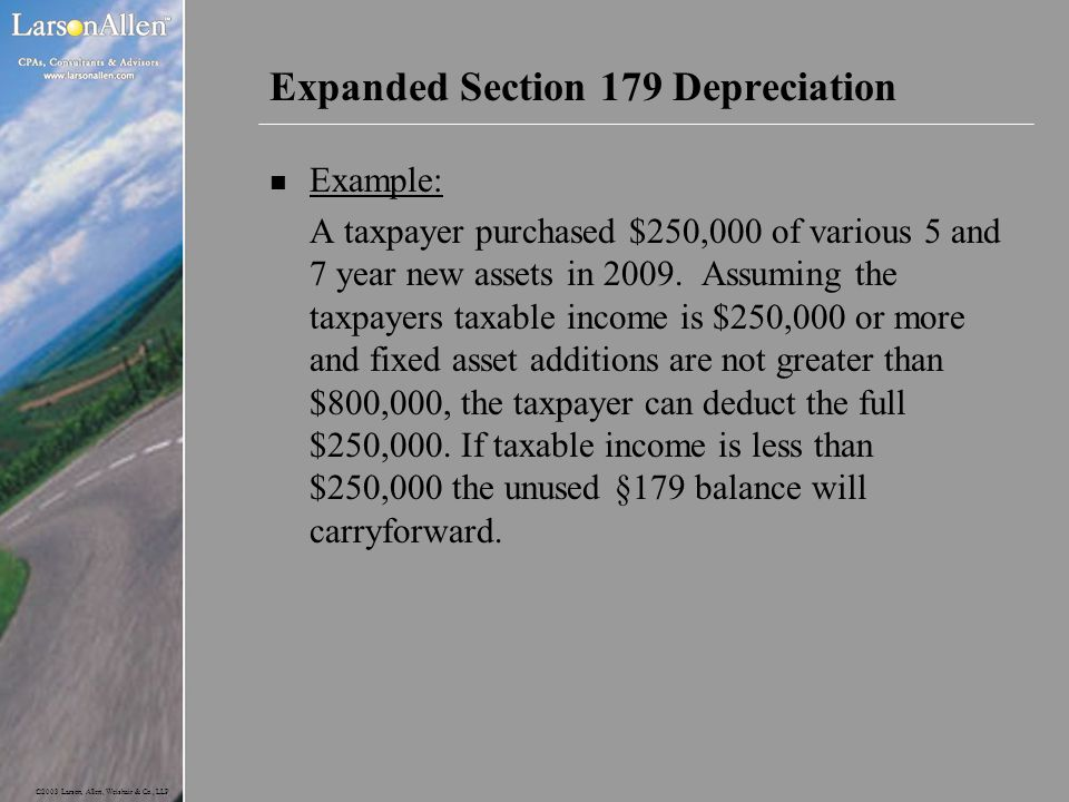 Expanded Section 179 Depreciation