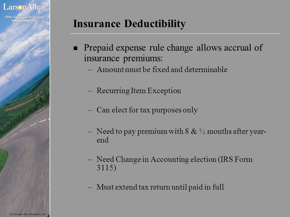 Insurance Deductibility