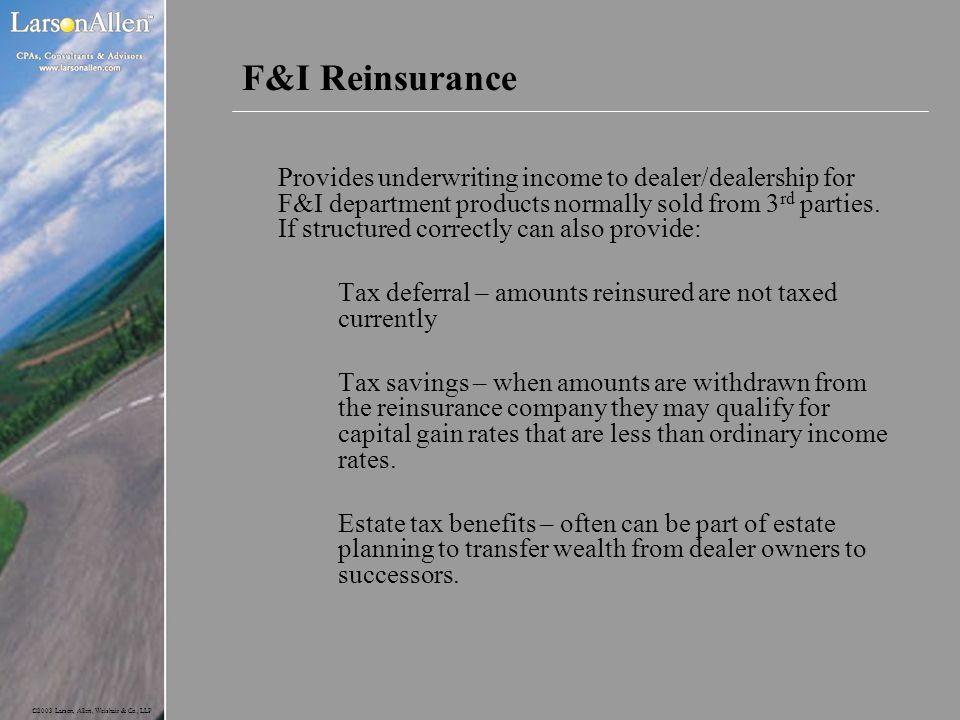 F&I Reinsurance