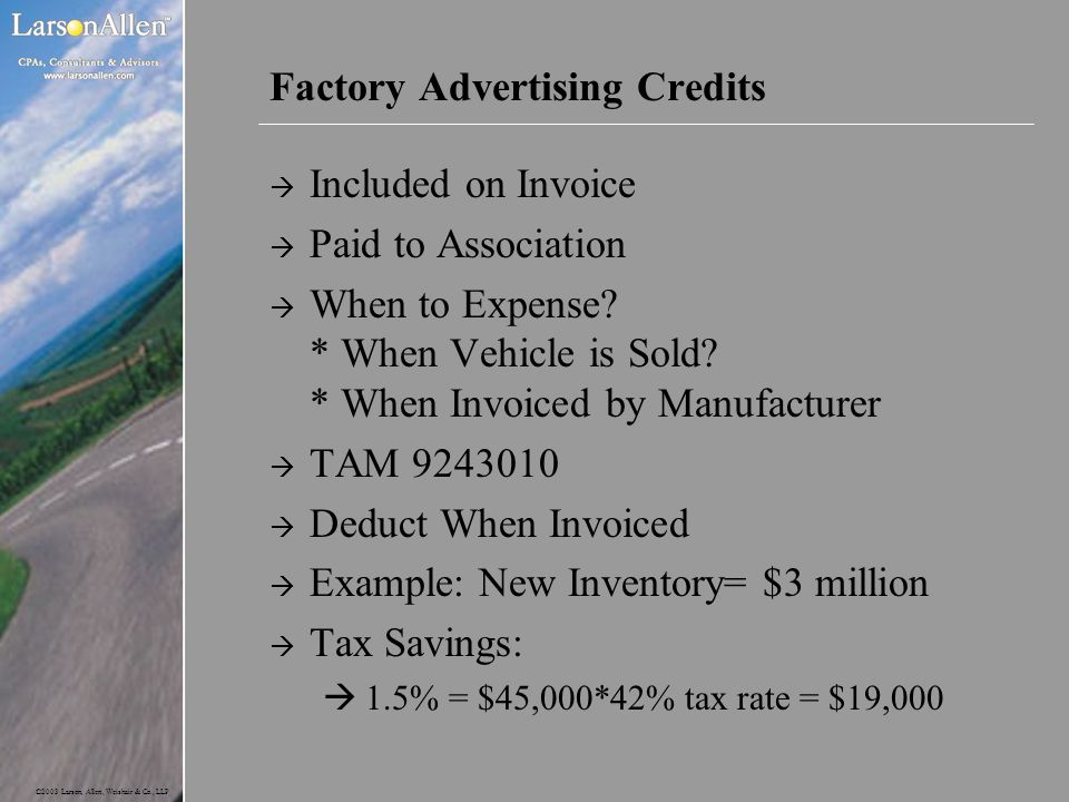 Factory Advertising Credits