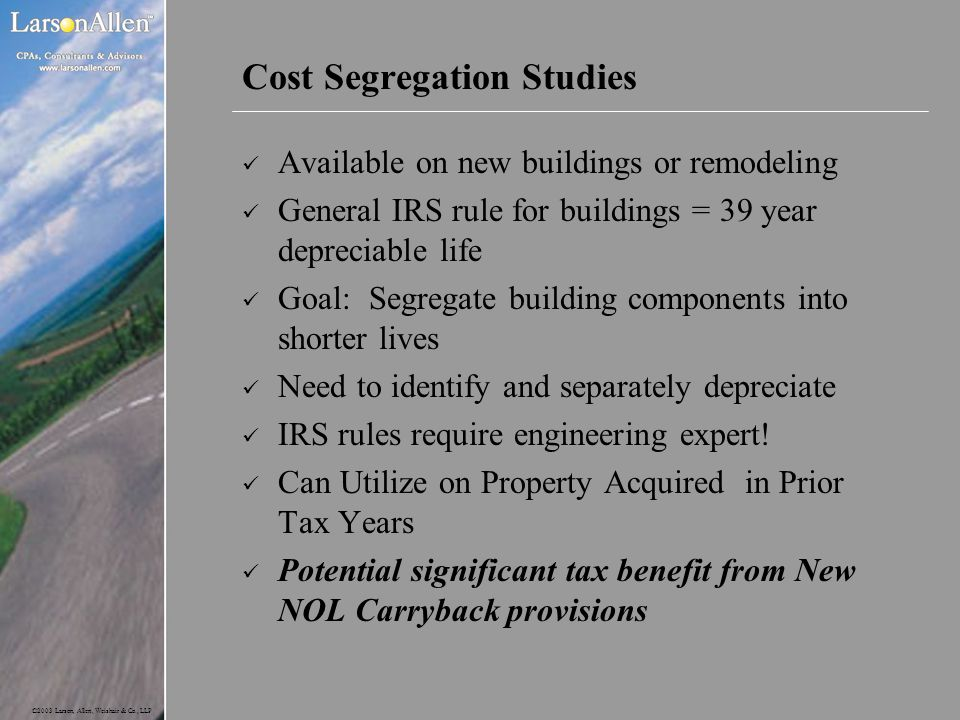 Cost Segregation Studies