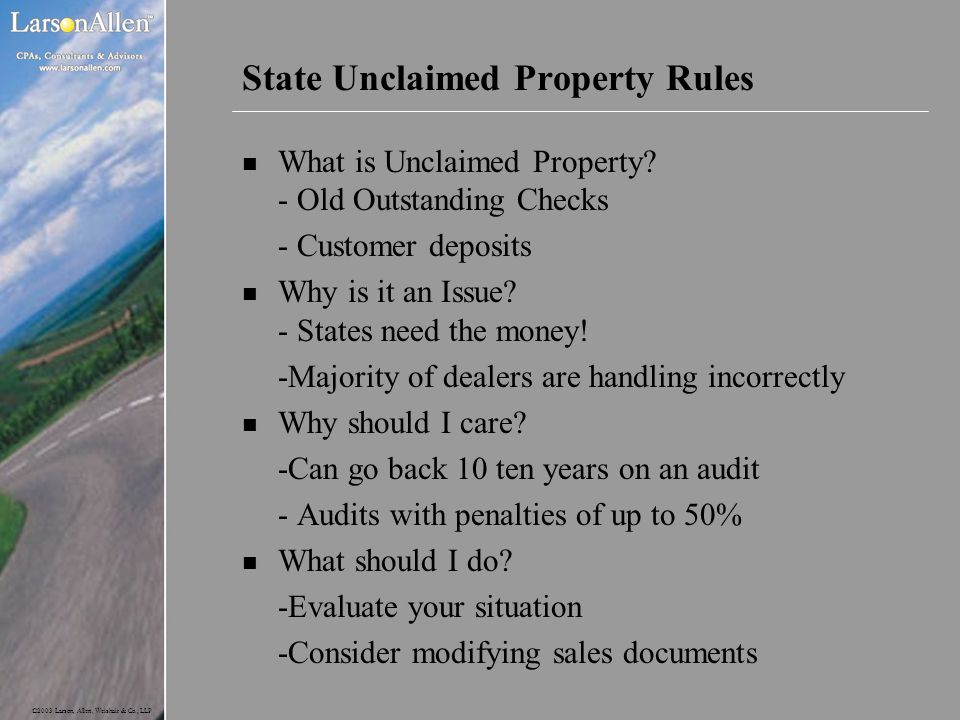 State Unclaimed Property Rules