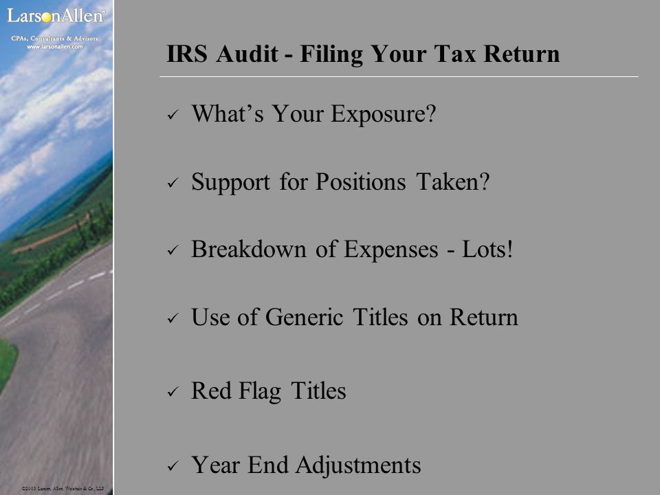 IRS Audit - Filing Your Tax Return