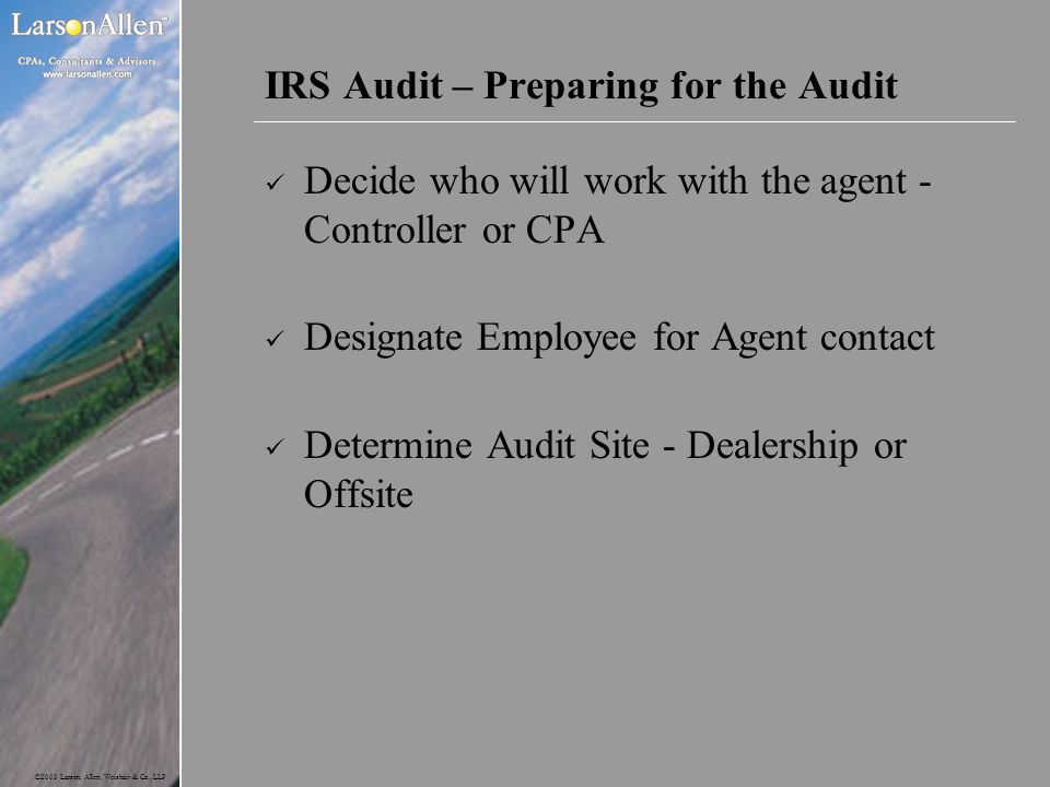 IRS Audit – Preparing for the Audit