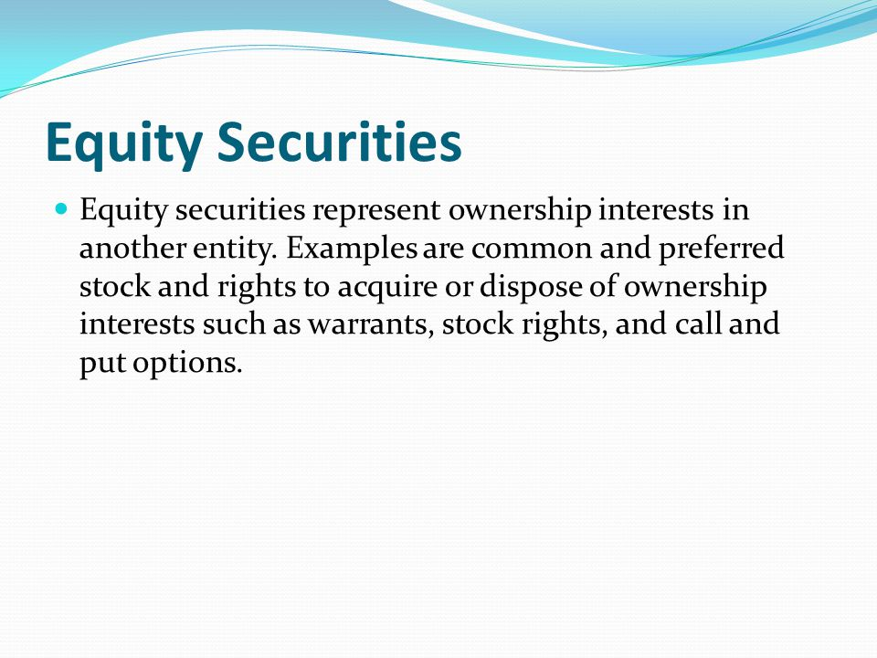 Equity Securities