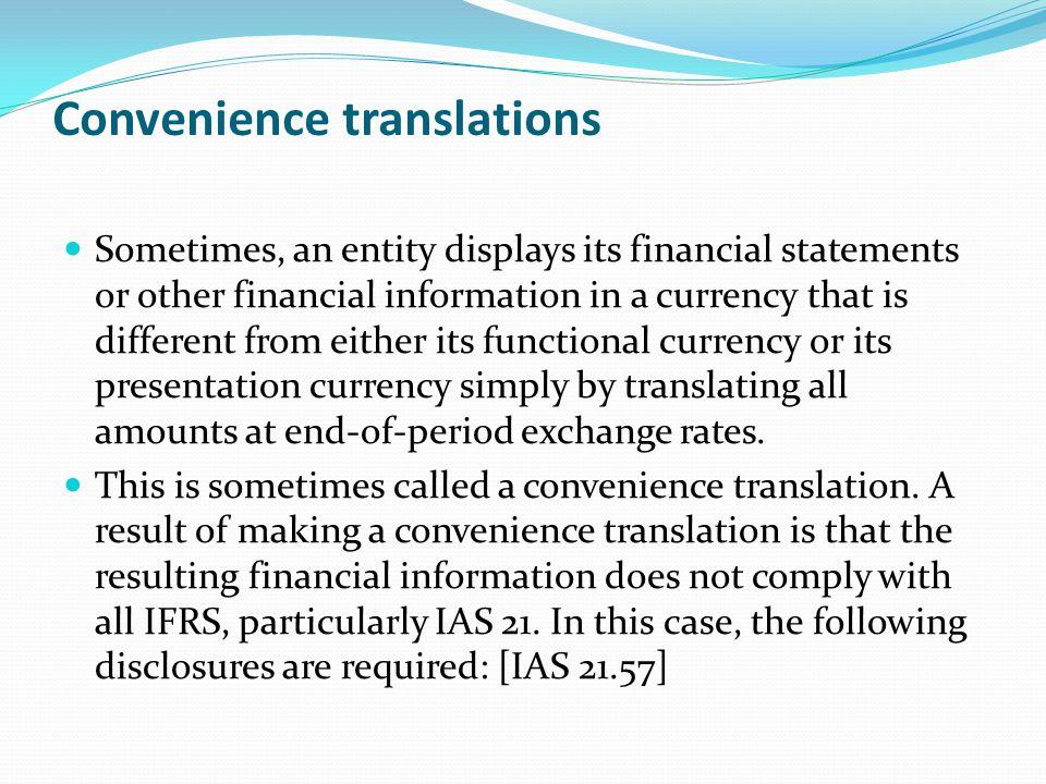 Convenience translations