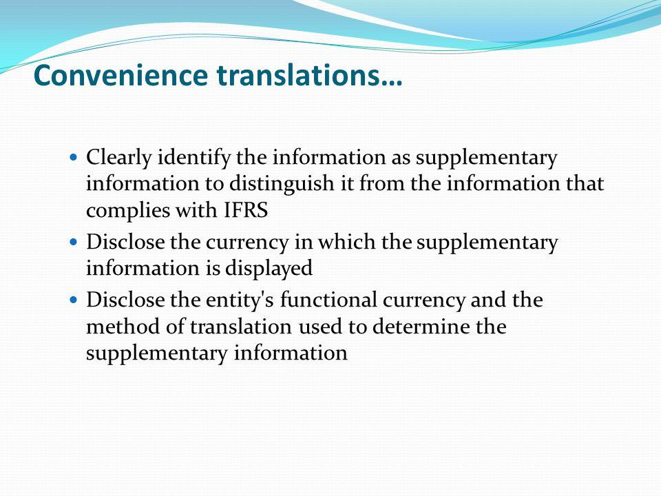 Convenience translations…