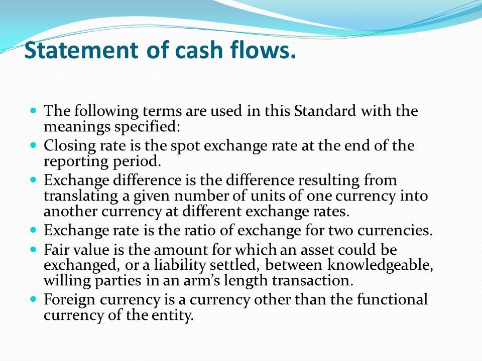 Statement of cash flows.