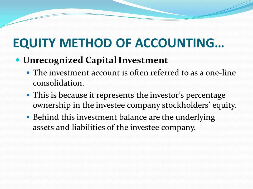 the equity method of accounting for Improving the equity method of accounting last updated on may 11, 2016 please refer to the current technical plan for information about the expected release dates.